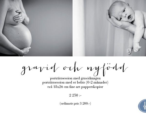 erbjudande gravid och nyfödd