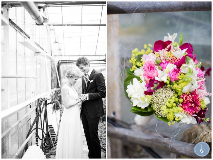 bröllopsfoto växthus